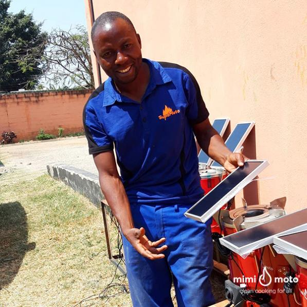 30 - Mimi Moto Emerging cooking solutions Zambia charging with solar
